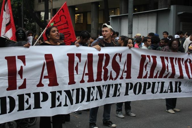 Proteste in Rio (Foto: Julia Jaroschewski)