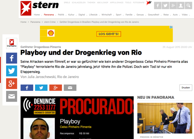Screenshot Stern.de