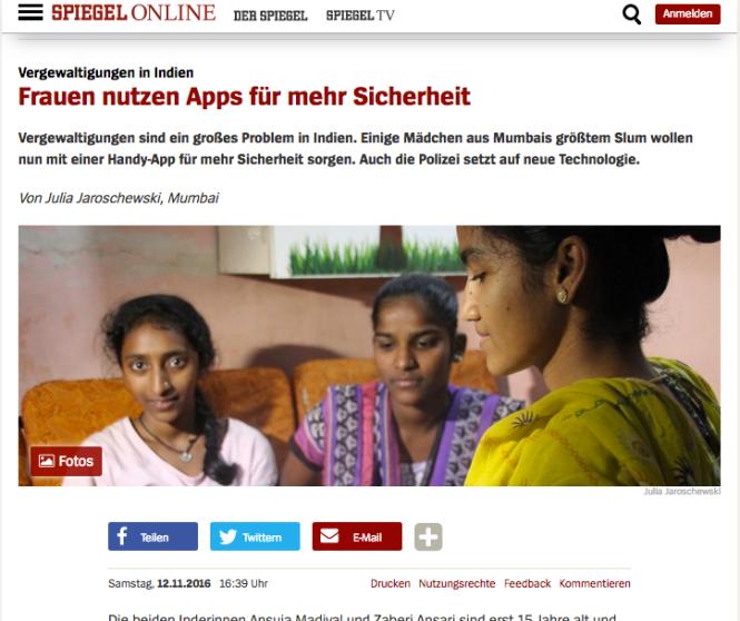 Apps für Sicherheit: Screenshot Spiegel Online