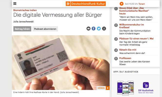 Screenshot Deutschlandfunk Kultur