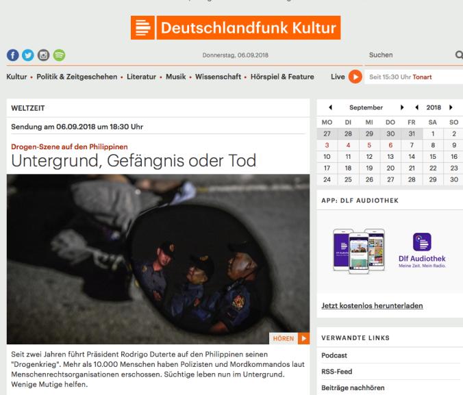 Screenshot Deutschlandfunk