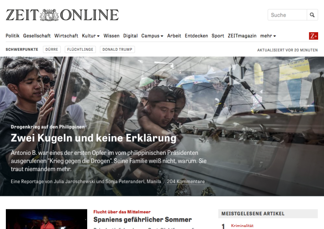 Screenshot ZeitOnline