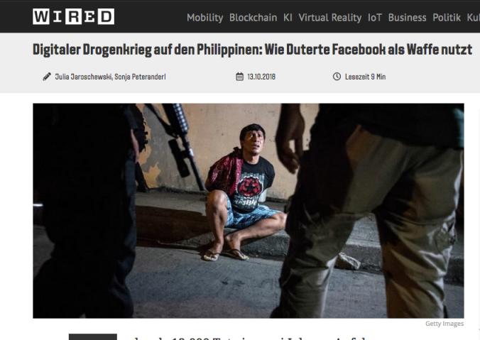 Screenshot Wired Philippinen