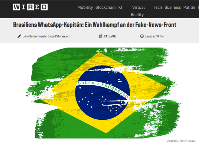 Screenshot Wired Brazil Fakenews