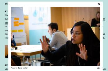 Screenhot of Global Diplomacy Lab Blog