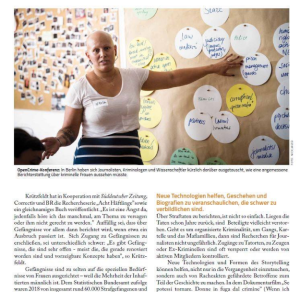 Women & Crime: Women are playing an increasingly important role in organized crime, money laundering, but also for anti crime strategies. Learnings from our OpenCrime conference in the latest issue of Journalist magazine.